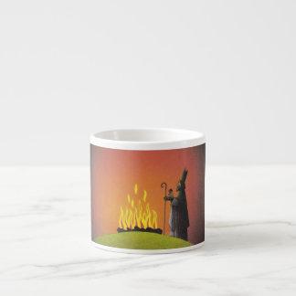 Legend of Saint Patrick and the Paschal Fire 6 Oz Ceramic Espresso Cup
