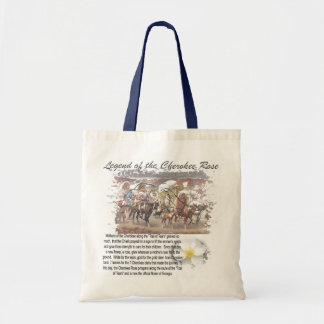 Legend of the Cherokee Rose Tote Bags