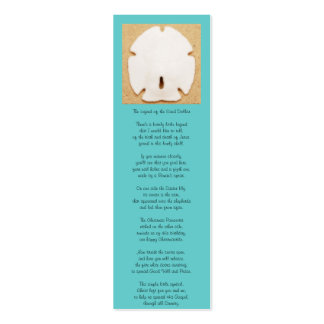 Legend of the Sand Dollar Bookmark Mini Business Card