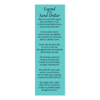 Legend of the Sand Dollar Bookmark Revised* Mini Business Card