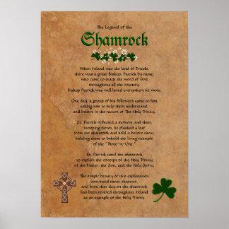 Legend of the Shamrock Frameable Poster