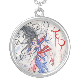 Legend Of The Three Moons Gothic Round Necklace