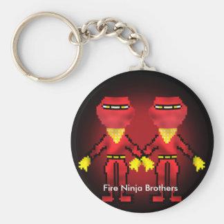 Legend of the Twilight Ninja Fire Ninja Brothers Keychains