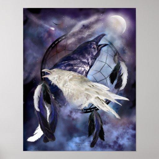 Legend Of The White Raven Art Print/ Poster