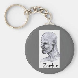 Legend Zombie Basic Round Button Keychain