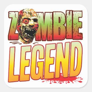 Legend Zombie Head Stickers