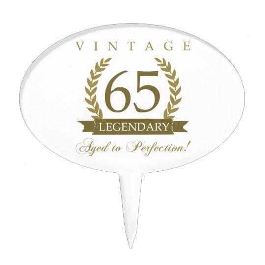 Legendary 65th Birthday Cake Topper