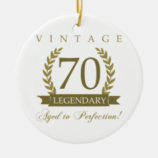 Legendary 70th Birthday Ceramic Ornament