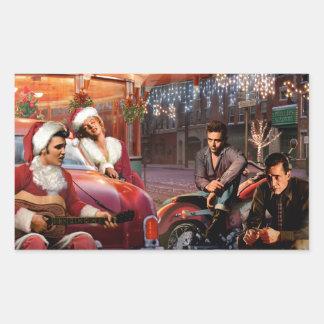 Legendary Christmas Rectangular Sticker