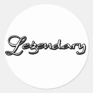 Legendary Classic Round Sticker