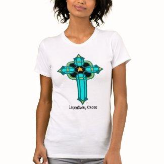 Legendary Cross in Teal T-Shirt