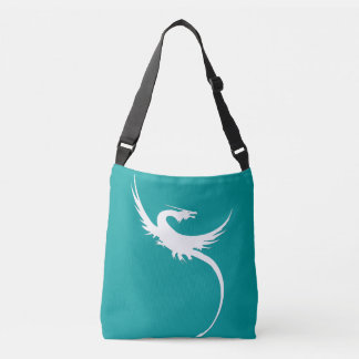 Legendary Dragon with long pointed tail Crossbody Bag