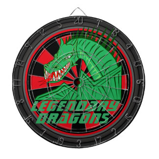 Legendary Dragons Art Dartboard With Darts