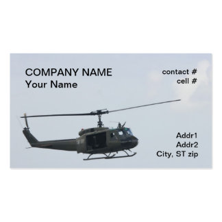 Legendary huey helicopter Double-Sided standard business cards (Pack of 100)