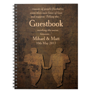 Legendary Love Guestbook for a Gay Wedding Notebook