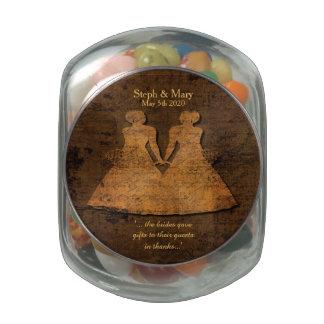 Legendary Love Lesbian Wedding Jelly Belly Jar Glass Jar