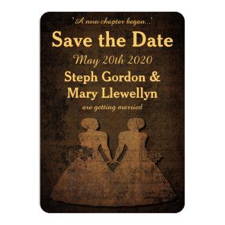 Legendary Love Lesbian Wedding Save the Date Card