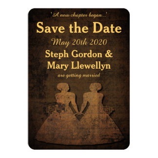 "Legendary Love Lesbian Wedding Save the Date Card 4.5"" X 6.25"" Invitation Card"