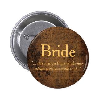 Legendary Love Story Lesbian Bride's Badge Button