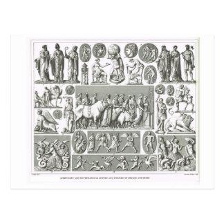 Legendary mythological figures, Greece and Rome Postcard