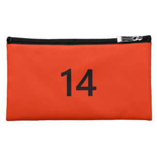 Legendary No. 14 in orange and black Cosmetic Bag