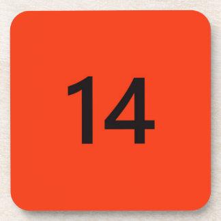 Legendary No. 14 in orange and black Drink Coaster