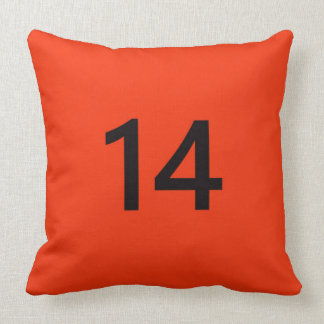 Legendary No. 14 in orange and black Pillow