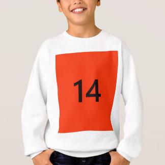 Legendary No. 14 in orange and black Sweatshirt