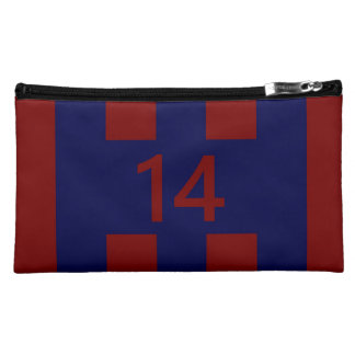 Legendary No. 14 in red and blue Makeup Bag