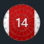 "Legendary No. 14 in red and white Dart Board<br><div class=""desc"">Johan Cruijff,  the Legendary No. 14. 