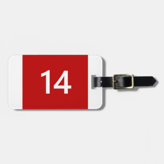Legendary No. 14 in red and white Luggage Tag