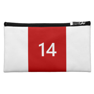 Legendary No. 14 in red and white Makeup Bag