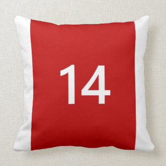 Legendary No. 14 in red and white Pillow