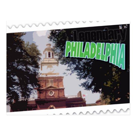 Legendary Philadelphia, Pa., postcard