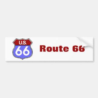 Legendary Route 66 Road Sign Bumper Sticker Car Bumper Sticker