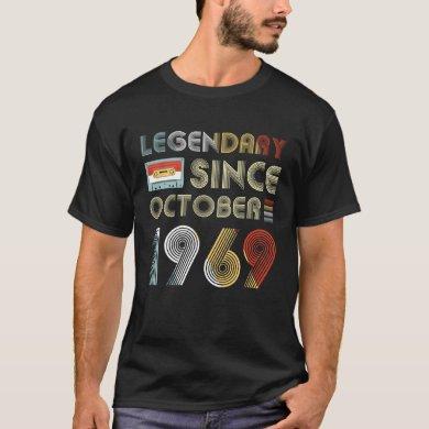 Legendary Since October 1969 50th Birthday T-Shirt