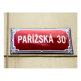 Legendary Street Sign of Prague Postcard