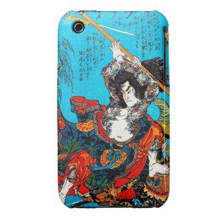 Legendary Suikoden Hero Warrior Jo Kuniyoshi art iPhone 3 Case