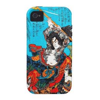 Legendary Suikoden Hero Warrior Jo Kuniyoshi art iPhone 4/4S Cases