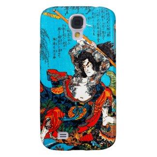 Legendary Suikoden Hero Warrior Jo Kuniyoshi art Samsung Galaxy S4 Cover