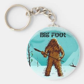 Legendary Yeti Bigfoot Big Foot Gifts Customize Basic Round Button Keychain