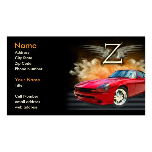 Legendary Z Double-Sided Standard Business Cards (Pack Of 100)