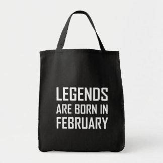 Legends Are Born In February Tote Bag