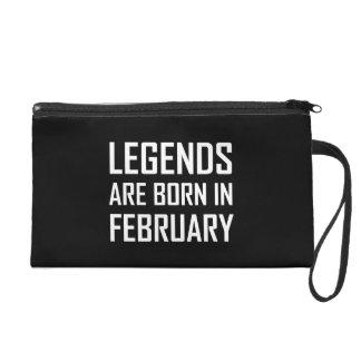 Legends Are Born In February Wristlet Purse