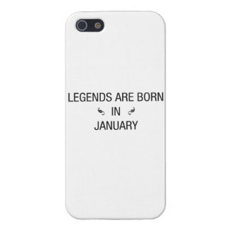 LEGENDS ARE BORN IN JANUARY - iPhone case