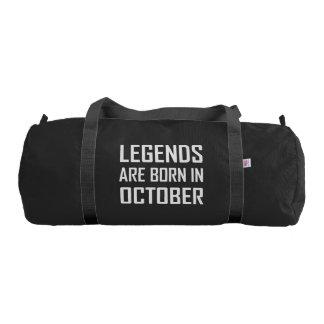Legends Are Born In October Gym Bag