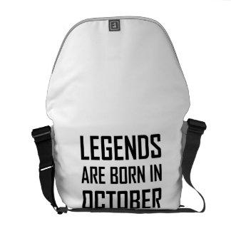 Legends Are Born In October Messenger Bag