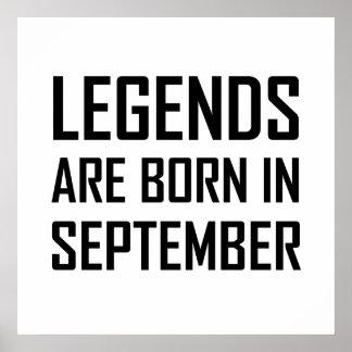 Legends Are Born In September Poster