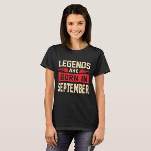 23481cd7c Born In September T-Shirts - T-Shirt Design & Printing | Zazzle