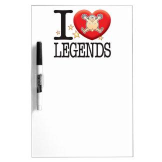 Legends Love Man Dry-Erase Boards